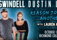 Cole Swindell with Dustin Lynch and Lauren Alaina