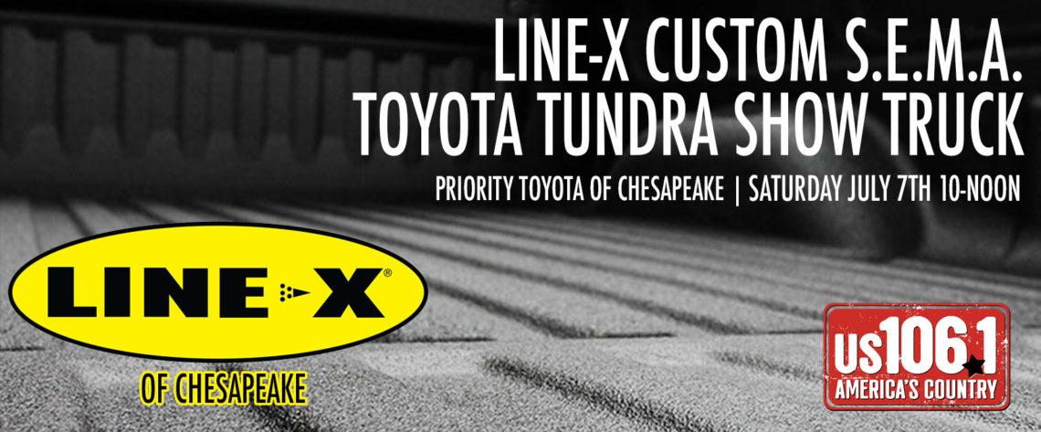 Line-X Custom S.E.M.A. Toyota Tundra Show Truck