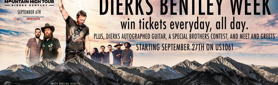 Win tickets to Dierks Bentley