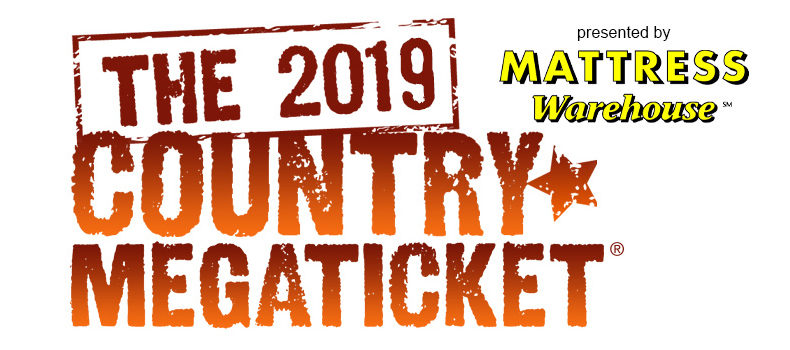 Listen to Win Tickets for the 2019 Country MegaTicket!
