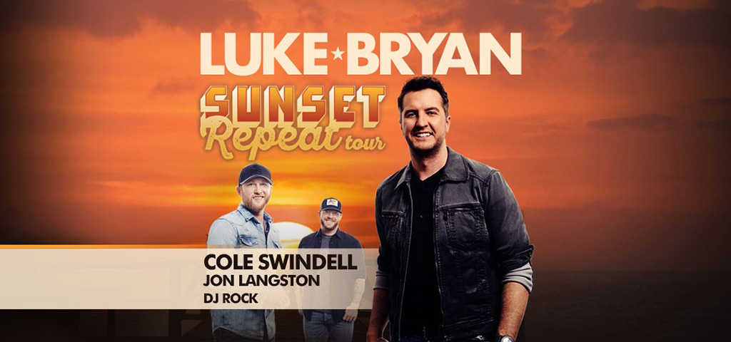 Luke Bryan with Cole Swindell and Jon Langston