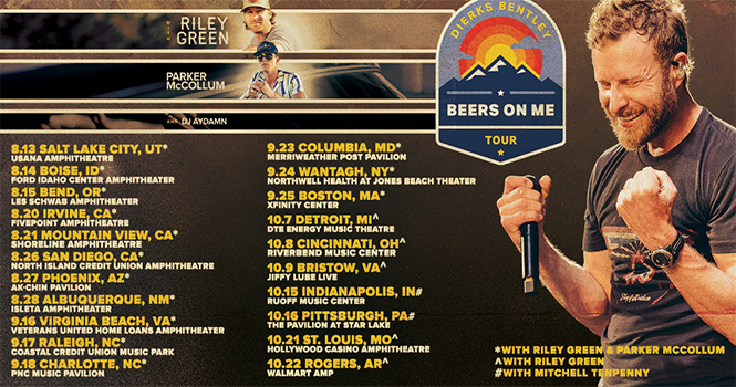 Win Tickets to the Dierks Bentley Beers On Me Tour