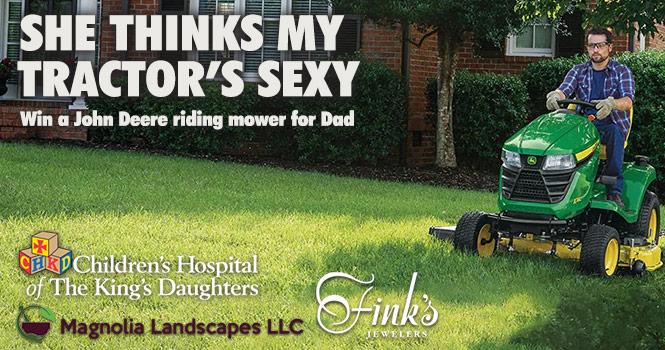 Win a John Deere Riding Mower For Dad